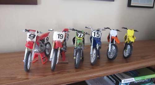 Honda NewRay Toy Dirtbikes